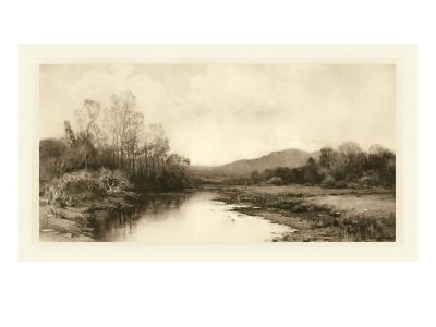 Tranquil Riverscape II-Julian Rix-Art Print