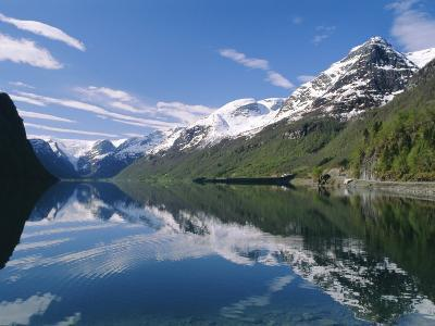 Tranquil Scene Near Olden, Oldevatnet Lake, Western Fjords, Norway, Scandinavia, Europe-Gavin Hellier-Photographic Print