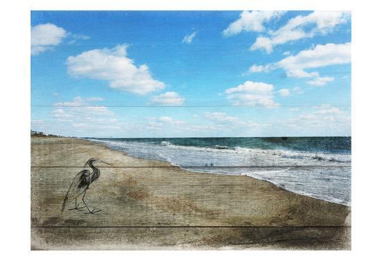 Tranquil Walk By The Ocean-Sheldon Lewis-Art Print