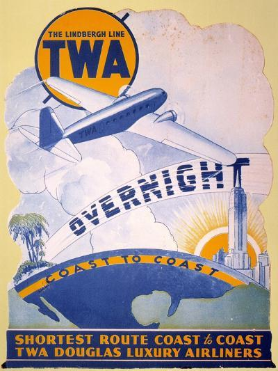 Trans-World Airlines 1934--Giclee Print