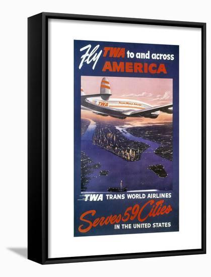 Trans-World Airlines 1950S--Framed Art Print