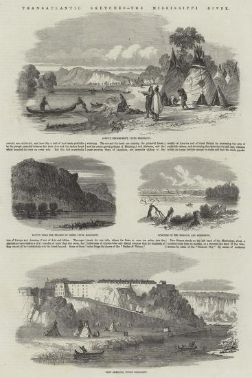 Transatlantic Sketches, the Mississippi River--Giclee Print