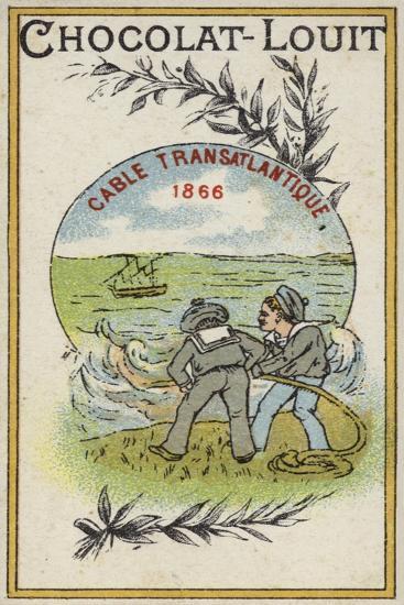Transatlantic Telegraph Cable, 1866--Giclee Print