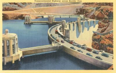 Transcontinental Highway over Boulder Dam, Nevada