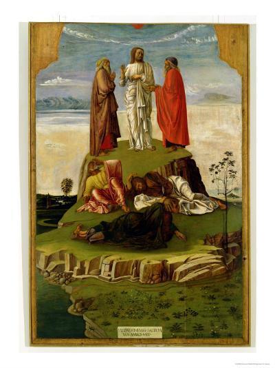 Transfiguration of Christ on Mount Tabor, 1455-60-Giovanni Bellini-Giclee Print