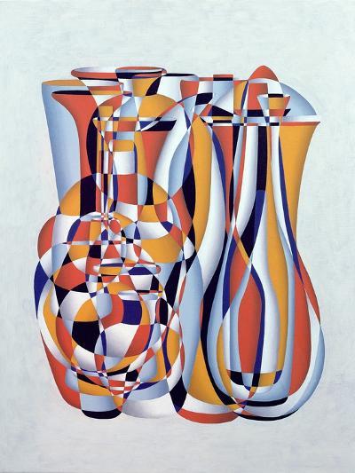 Transient Vessels Transposed, Lapis Orange-Brian Irving-Giclee Print