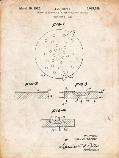 Transistor Semiconductor Patent-Cole Borders-Art Print