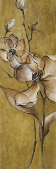 Translucent Magnolias on Gold-Lanie Loreth-Premium Giclee Print