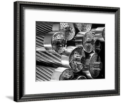 Transmission Cables Showing 6 Core Wires in a Bundle of 60 Aluminum Cables, Aluminum Co. of America-Margaret Bourke-White-Framed Premium Photographic Print
