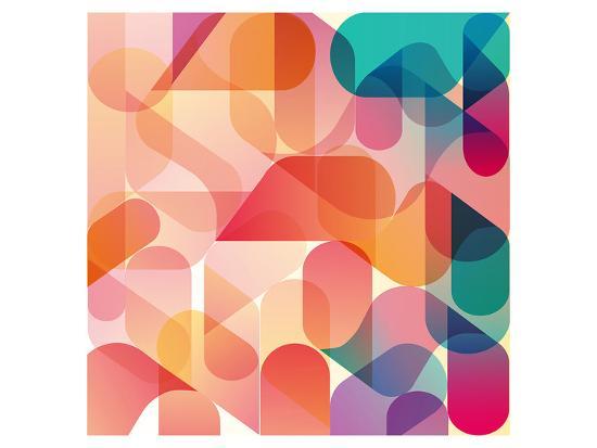 Transparent Orange Pink Blue--Art Print