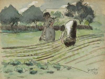 Transplanting and Watering-Julio González-Giclee Print