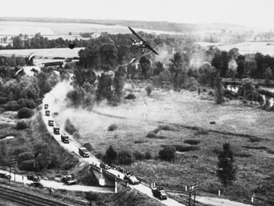 Transport Column in France WWII-Robert Hunt-Photographic Print