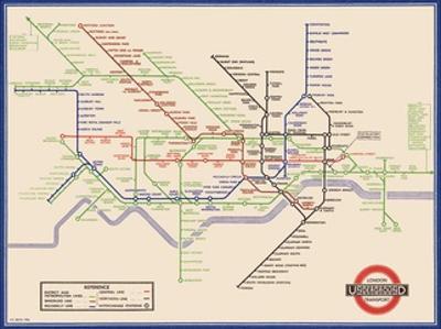 London Underground Map, Harry Beck, 1933