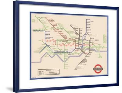 London Underground Map, Harry Beck, 1933