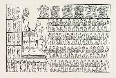 Transport of a Colossus, from a Tomb at El Bersheh. Egypt, 1879--Giclee Print