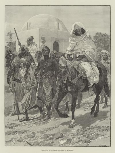Transport of Moorish Prisoners in Morocco-Richard Caton Woodville II-Giclee Print