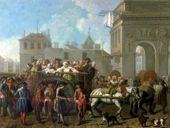 Transport of Prostitutes to the Salpetriere, circa 1760-1770-Etienne Jeaurat-Giclee Print