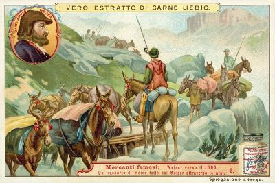 Transportation of Goods Made by Bartolomeus Welser across the Alps--Giclee Print