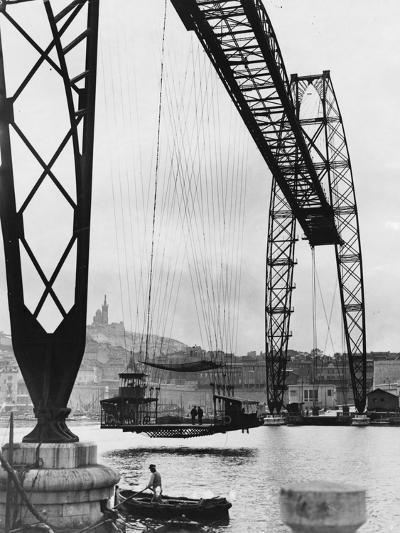 Transporter Bridge in Marseille--Photographic Print