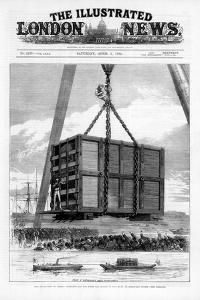 Transporting Jumbo the African Elephant to America, 1882