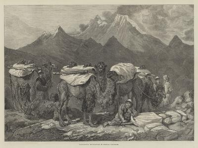 Transporting Merchandise in Eastern Turkestan-Guillaume Regamey-Giclee Print