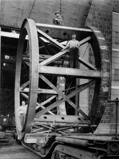 Transporting of the Framework of the Hale Telescope, C.1936-48--Photographic Print