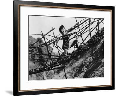Trapped on Broken Bridge--Framed Photo