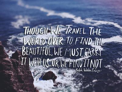 Travel Beautiful-Leah Flores-Art Print