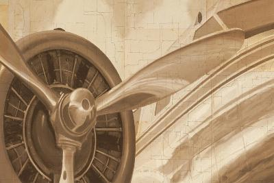 Travel by Air I Sepia No Words Post-Marco Fabiano-Art Print