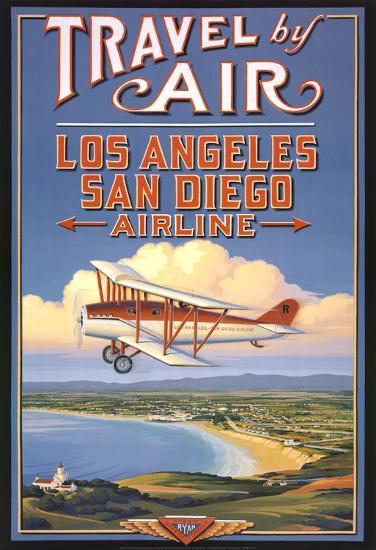 Travel by Air-Kerne Erickson-Art Print