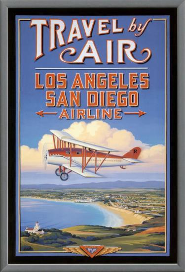 Travel by Air-Kerne Erickson-Framed Canvas Print