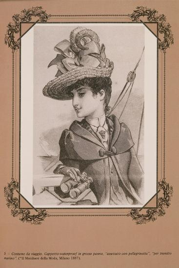 "Travel Costume Heavy Cloth Waterproof Coat to Travel by Sea, from ""Il Monitore Della Moda"", 1887--Giclee Print"