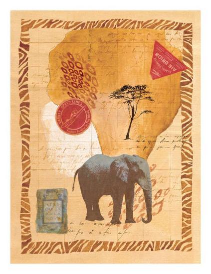 Travel Elephant-Fernando Leal-Art Print