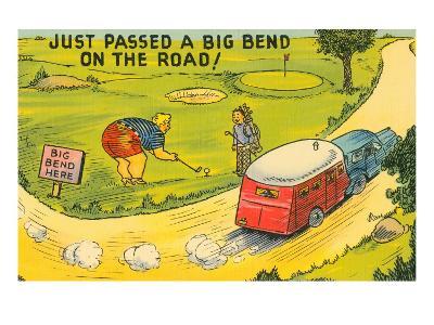 Travel Humor, Cartoon--Art Print