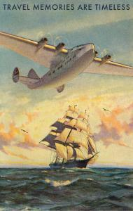 Travel Memories Are Timeless, Airplane and Sailing Ship