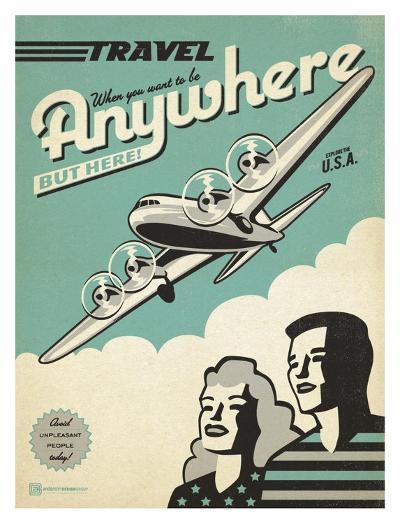 Travel Plane-Anderson Design Group-Art Print