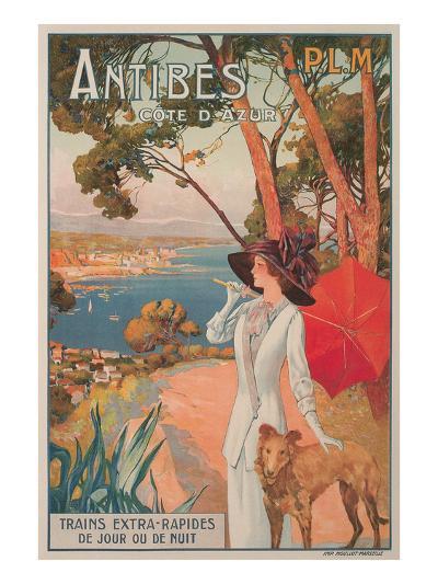 Travel Poster, Antibes--Art Print