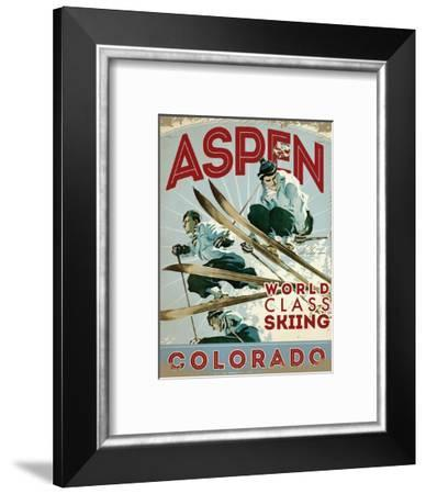 Travel Poster - Aspen-The Saturday Evening Post-Framed Giclee Print