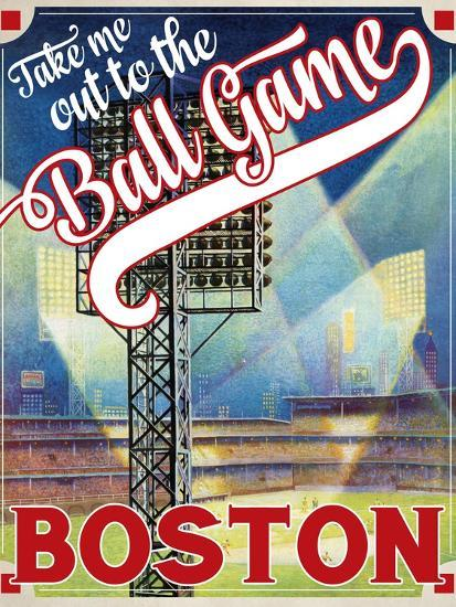 Travel Poster - Boston-The Saturday Evening Post-Giclee Print