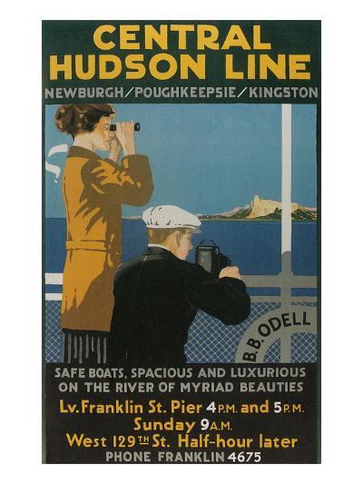 Travel Poster, Central Hudson Line--Art Print