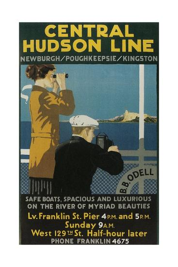 Travel Poster, Central Hudson Line-Found Image Press-Giclee Print