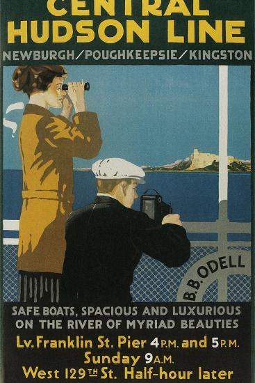 Travel Poster, Central Hudson Line-Found Image Holdings Inc-Photographic Print