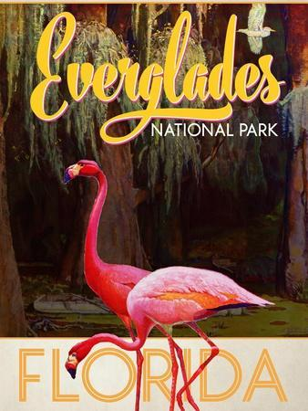 Everglades National Park Florida United States Travel  Advertisement Art Poster