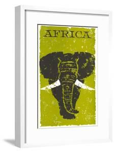 Travel Poster for Africa, Elephant