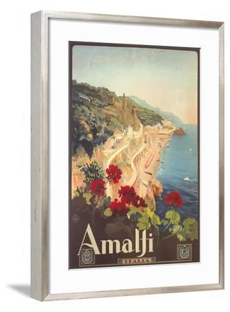 Travel Poster for Amalfi--Framed Art Print