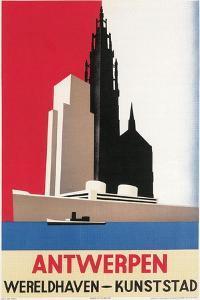 Travel Poster for Antwerp