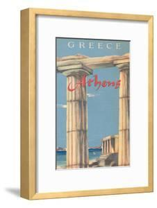 Travel Poster for Athens, Greece
