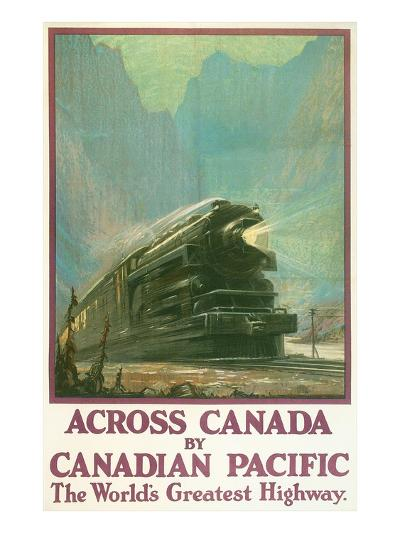 Travel Poster for Canadian Railways--Art Print