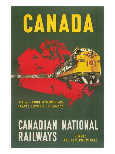 Travel Poster for Canadian Railways--Art Print