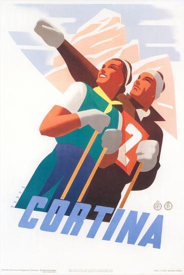 Travel Poster for Cortina--Art Print